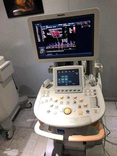 Gebraucht Philips iU22 Ultraschallgerät mit Flachmonitor, 2 Sonden, Sony Drucker