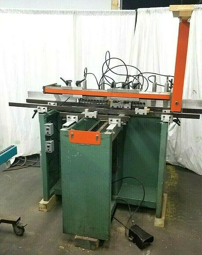Used Ritter Model R46VH Multi Hole Bore Drill Woodworking Drilling Machine Cabinetry