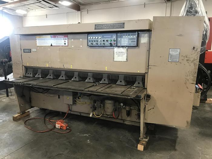 """Used 1/4"""" x 8' Cincinnati 250-HS Hydraulic Shear"""