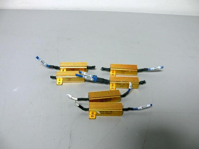 Used Lot of 6 RCD Power Resistors 620 R5F AE727 & 620 1% 10 OHM R0219