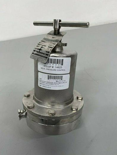 """Used Steriflow 95 Stainless Steel Pressure Regulator w/ 3/4"""" Sanitary Fittings"""