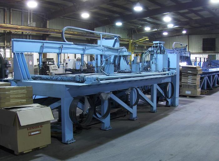 """Used 8"""" x 144"""" TANNEWITZ Model 3000-MH8 Vertical Band Type Plate Saw; Mfg. 1994"""