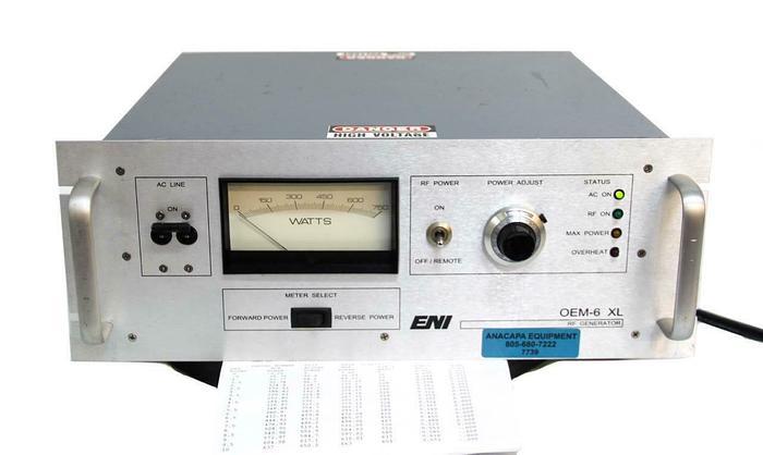 Used ENI OEM-6 XL, RF Generator Rev G, OEM-6M-01, 13.56 MHz 600 W (7739)W