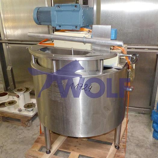 Gebraucht Rührwerksbehälter TERLET Hollandmit ca. 300 Litern Inhalt in Edelstahlausführung.