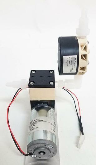 Used KNF UNF 100 TTDC 24V DC Liquid Diaphragm Pump with Pulsation Damper (6417)