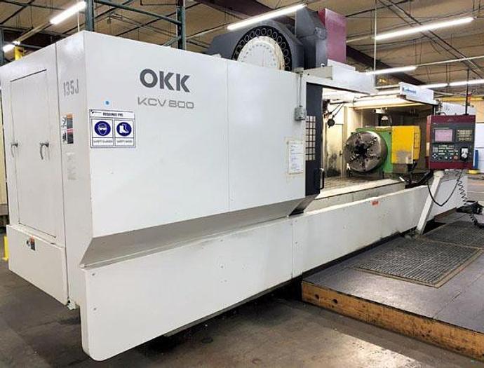 "Used 3117, OKK, KCV-800, 120"" X Travel, 4th Axis CNC Vertical Machining Cntr., 2007"