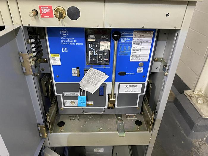 Used Westinghouse Low Voltage 1600 Amp DS Breakers