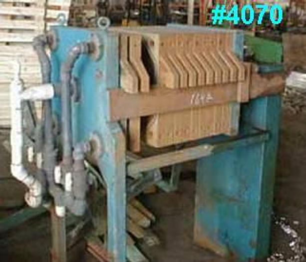 Used 3 CU. FT. ACS FILTER PRESS – POLYPRO. – 630 MM – C.G.R.