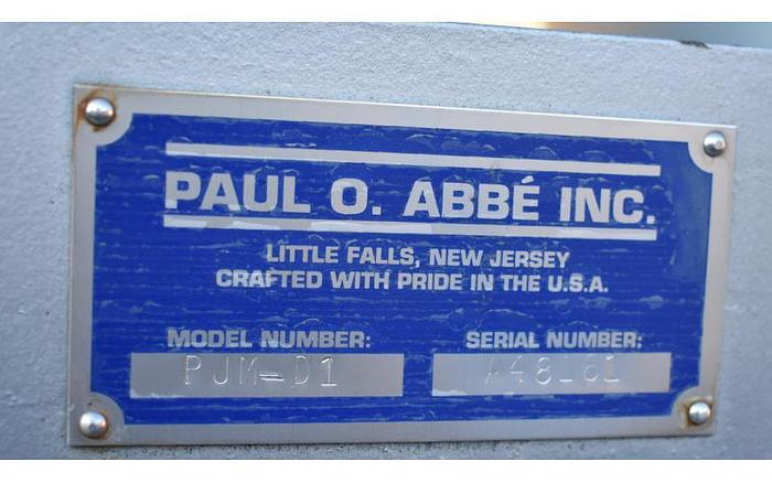 USED PAUL O ABBE PIVOTING JAR MILL, 2X 10 US GALLONS