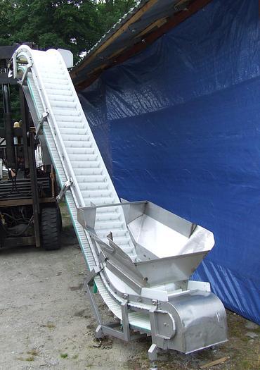 """Używane Przenośnik typu """"Z"""" z taśmą modułową, progową, białą - CABINPLANT"""