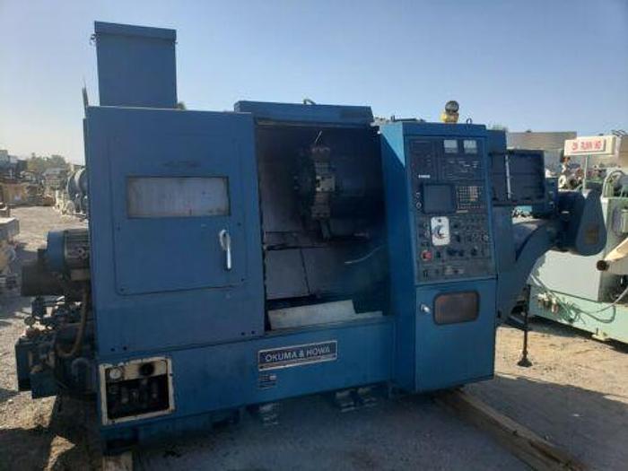 Used Okuma Howa ACT-4 CNC Lathe With Fanuc 6 control AS IS