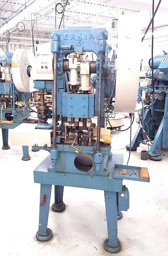 Used Perkins Transfer Stamping Punch Press Machine with Feed 15 Ton Pristine!