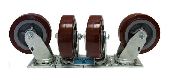 "Colson Polyurethane Wheel Heavy Duty Swivel Caster 6"" x 2"" NEW Lot of 4 (8676)W"