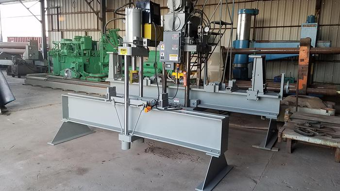 Used 110 Ton Rutil Hydraulic Straightening Press; 2 Axis Traveling Head; Dual Tie Rod Type