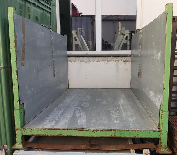 Gebraucht Umklappbare Langgutpalette, Sonderpalette, 165 x 120 x 110cm hoch, ,  gebraucht