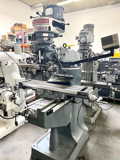 Used Frejoth FTV-1  J Head Type Milling Machine with Mitutoyo Digital Readout #5685