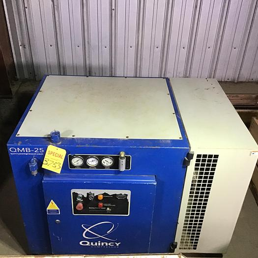 Used 25 HP Quincy Rotary Screw Air Compressor