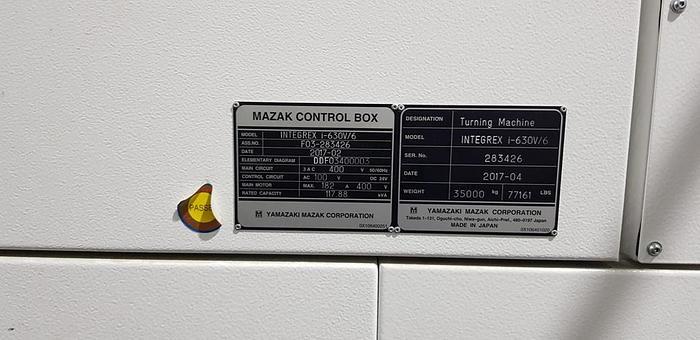 MAZAK INTEGREX i-630V/6