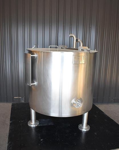 Used USED 150 GALLON JACKETED TANK, 316 STAINLESS STEEL