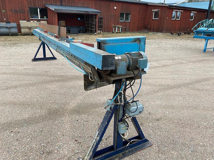 Used Roller conveyor with side pushers