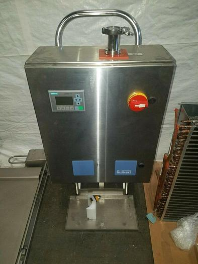 Used Burkert Portable Pharmaceutical Fluid Control System Stainless Steel