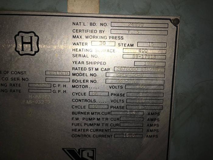 YORK SHIPLEY 50 HP BOILER
