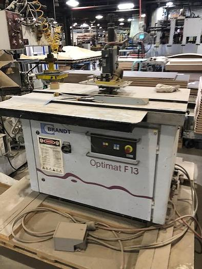 Used Brandt Optimat F-13 Top and Bottom Trimmer