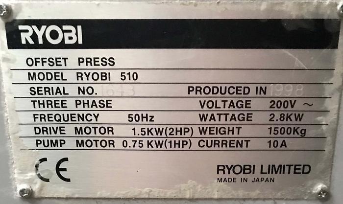 1998 Ryobi 510