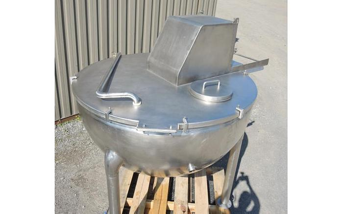 USED 200 GALLON JACKETED KETTLE, STAINLESS STEEL