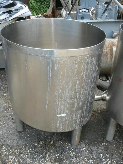 Used 65 GALLON OPEN TOP TANK WITH COVER – T-316 S/S
