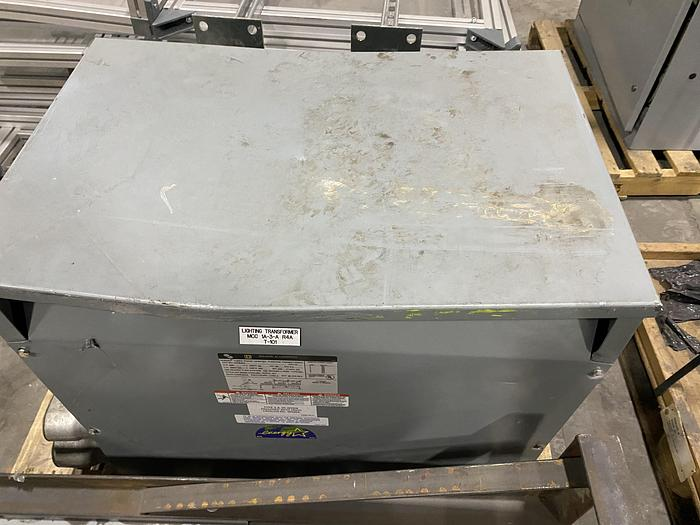 Used 75 KVA SQURE D COMPANY 3 PHASE DRY TYPE TRANSFORMER