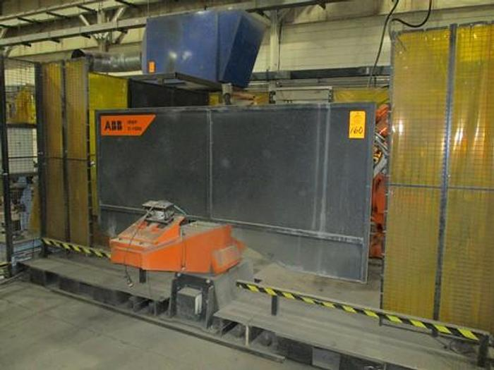 Used ABB IRBP C-1000 SPOT WELDING CELL WITH TWO ABB IRB 6640 180/2.55 ROBOTS & IRC 5 CONTROLLERS & ARO SERVO SPOT WELD GUNS