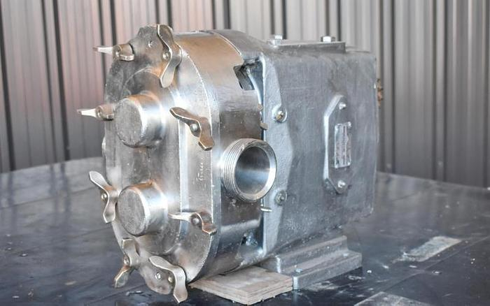 Used USED WAUKESHA ROTARY LOBE PUMP, MODEL 060, STAINLESS STEEL