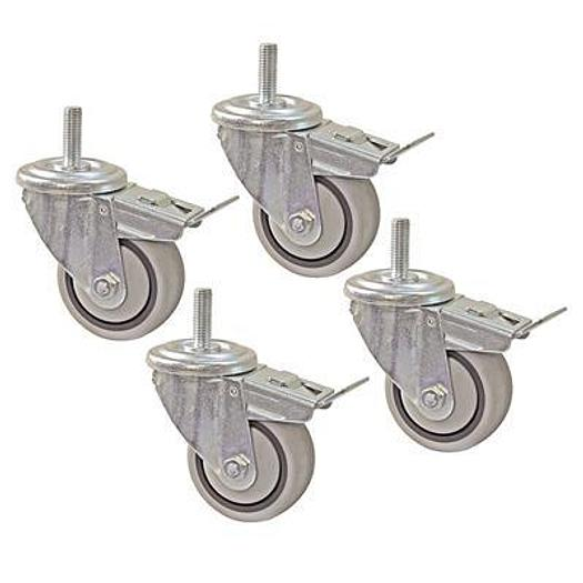 "3"" Dual-Locking Casters (Set of 4)"
