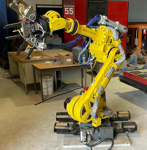 Used FANUC R1000iA/100F 100KG X 2230MM H REACH 6 AXIS ROBOT WITH R30iA CONTROLLER