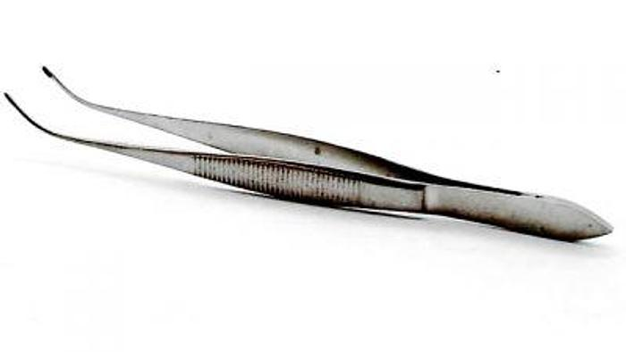 Used Ophthalmic Forceps Iris Curved Plain 115mm (4-1/2in)
