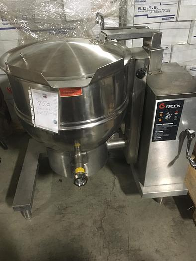 Used GROEN DHT/1-40 STEAM KETTLE 40 GAL. TILTING SELF CONTAINED NAT. GAS (#750, #751)