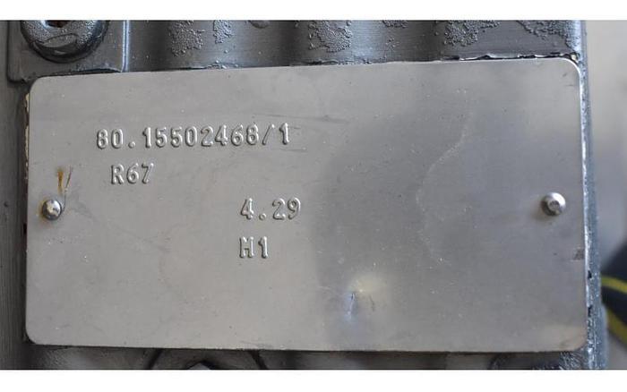 USED WAUKESHA ROTARY LOBE PUMP, MODEL 060-U1, STAINLESS STEEL, SANITARY