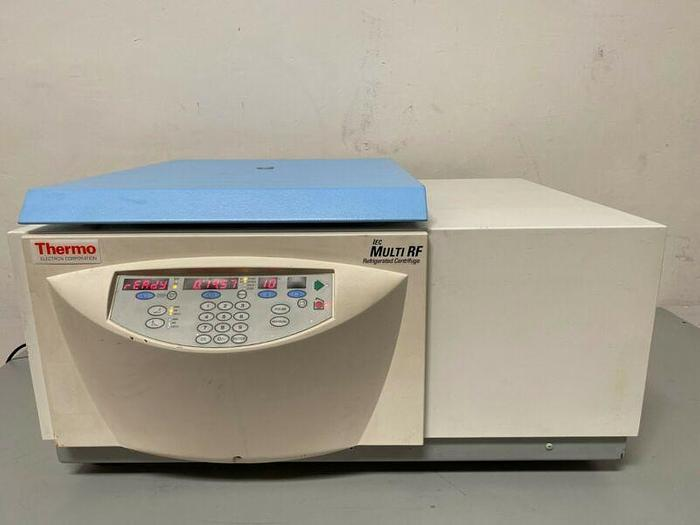 Used Thermo Scientific 120 IEC-Multi RF Refrigerated Centrifuge w/ Thermo 8244 Rotor