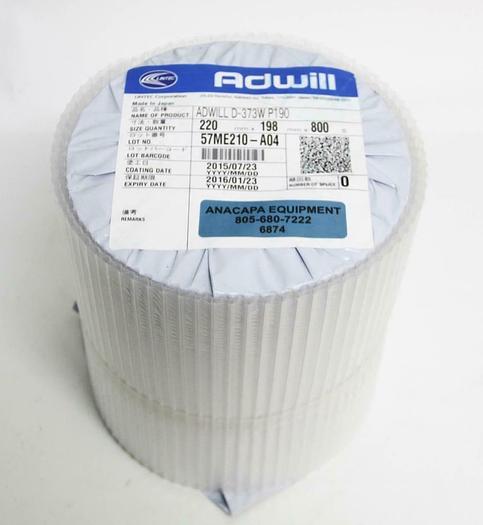 Lintec Adwill D-373W UV Curable Dicing Tape P190 220mm x 198mm x 800s NEW (6874