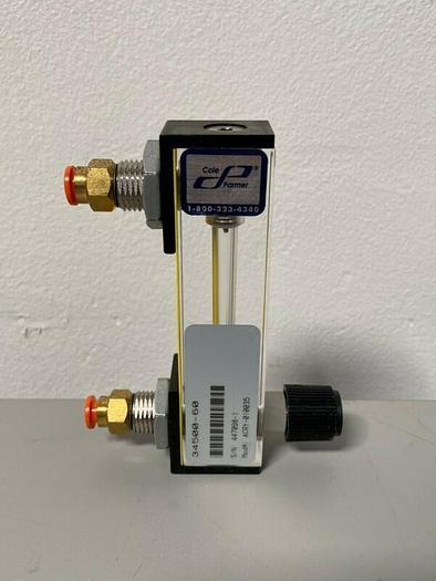 Used Cole Parmer 34500-60 ACRY-010035 Flowmeter Kit with Valve 40 SCFH