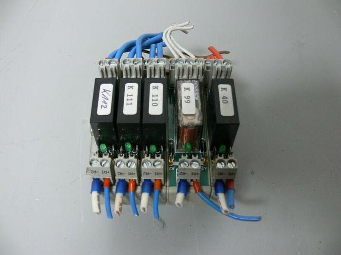 Used Lot of 5 Wieland Bamberg Relay Modules 80.010.0008.0 (x4) & 80.010.1002.0 (x1)