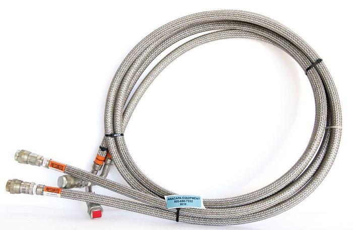 Used CTI Cryogenics 8043074, Helium Supply & Return Line 10', 260 PSIG Lot of 2(8016)