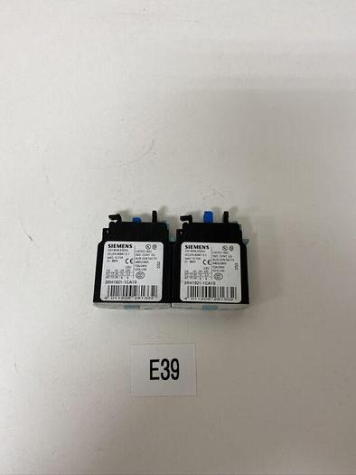 New Siemens 3RH1921-1CA10 Auxiliary Contact 10A Warranty Fast Shipping Lot Of 2