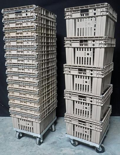 """Used USED STACKABLE AND NESTABLE CHILL TRAYS 20"""" W X 24"""" L X 13"""" H"""