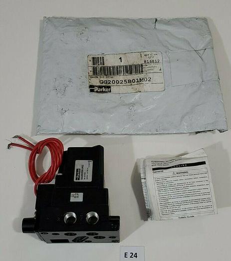 *NEW* Parker GG20025B01M02 Pneumatic Solenoid Valve 35-150PSIG 7.2W + Warranty