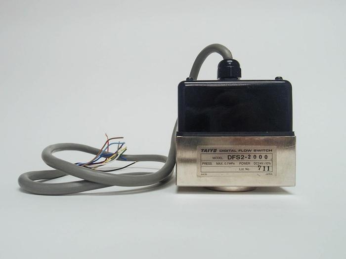 Used Taiyo Digital Flow Switch DFS2-2000 DC24V (3873)