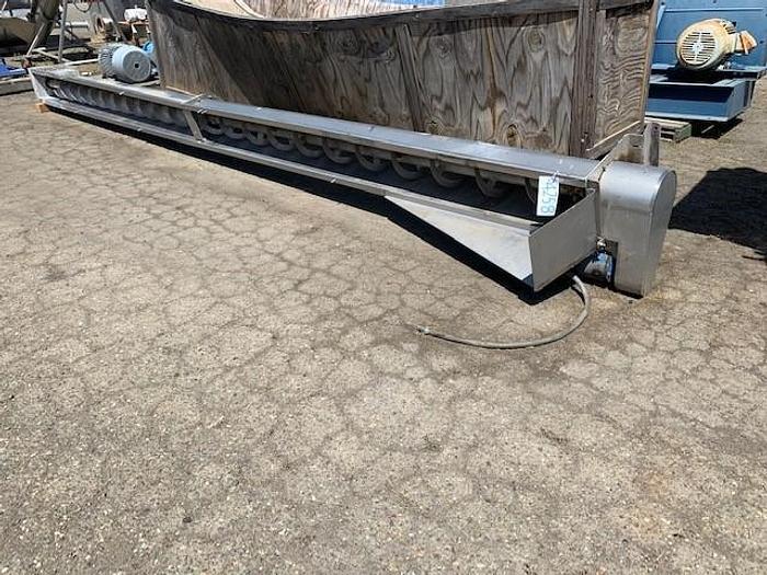 Used Stainless Steel Ribbon Auger Screw Conveyor
