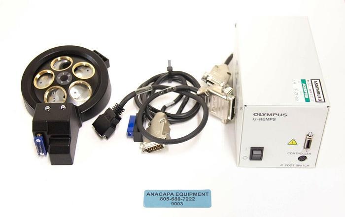 Used Olympus U-D5BDREM Microscope Turret 5 Position w/ U-REMPS2 Controller (9003)R
