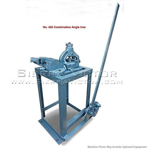 ROPER WHITNEY Combination Angle Iron Bender/Shear/Notcher with Handle and Floor Stand NO.455